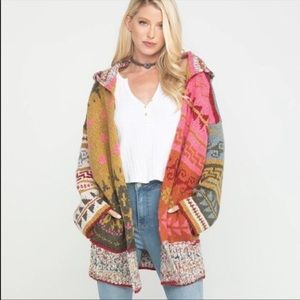 Free People Canyon Vibes Hooded Sweater Cardigan